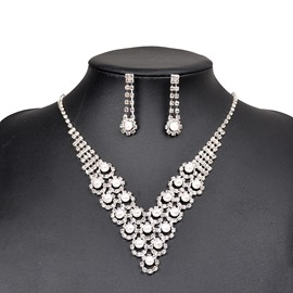 Ericdress Holy Pearl Rhinestone Wedding Jewelry Set