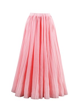 Ericdress Pleated Plain Mid-Calf Women's Skirt