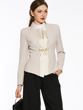 Ericdress Elegant Solid Color Slim Blazer