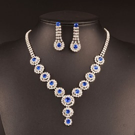 Ericdress Shining Colored Gemstone Jewelry Set for Wedding