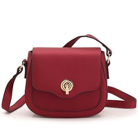 Ericdress Solid Color Nubuck Leather Crossbody Bag