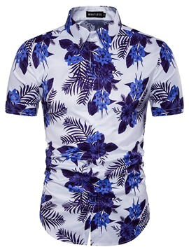 Ericdress Short Sleeve Print Vogue Casual Men's Shirt