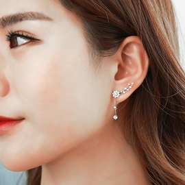 Ericdress Sweet Rhinestone Leaf-Shaped Women's Ear Cuff