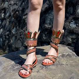 Ericdress Queen Style Patchwork Rhinestone Flat Sandals