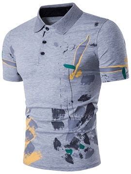 Ericdress Print Casual Polo Men's T-Shirt