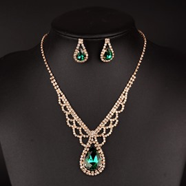 Ericdress Splendid Emerald Pendant Jewelry Set