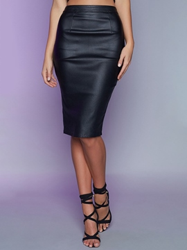 Ericdress High Waisted Black Women's Skirts