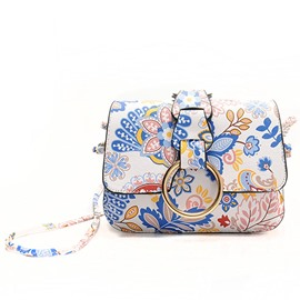Ericdress Outdoor Floral Pattern Print Crossbody Bag
