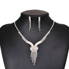 Ericdress Hot Rhinestone Two-Piece Jewelry Set for Women