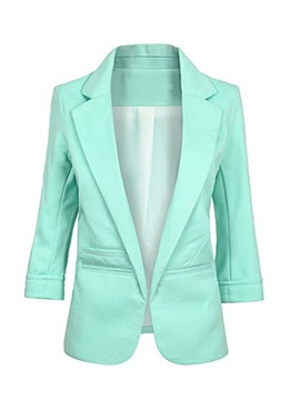 Ericdress Women's Notched Lapel Plain Blazer