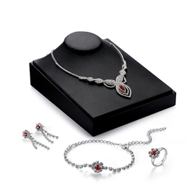 Ericdress Flower Design Ruby Inlay Jewelry Set