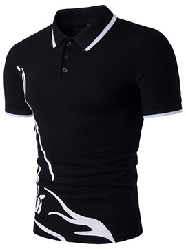 Ericdress polo casual style männer t-shirt