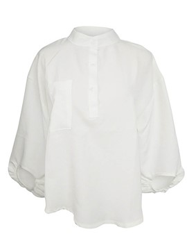 Ericdress Batwing Sleeve White Blouse