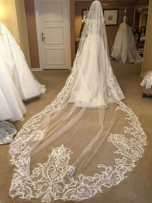 Ericdress Beautiful 1 Tier Long Wedding Cathedral Veil