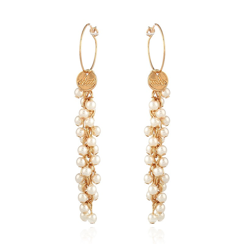 Ericdress Cheap Tassel Long Pearl Earring for Women