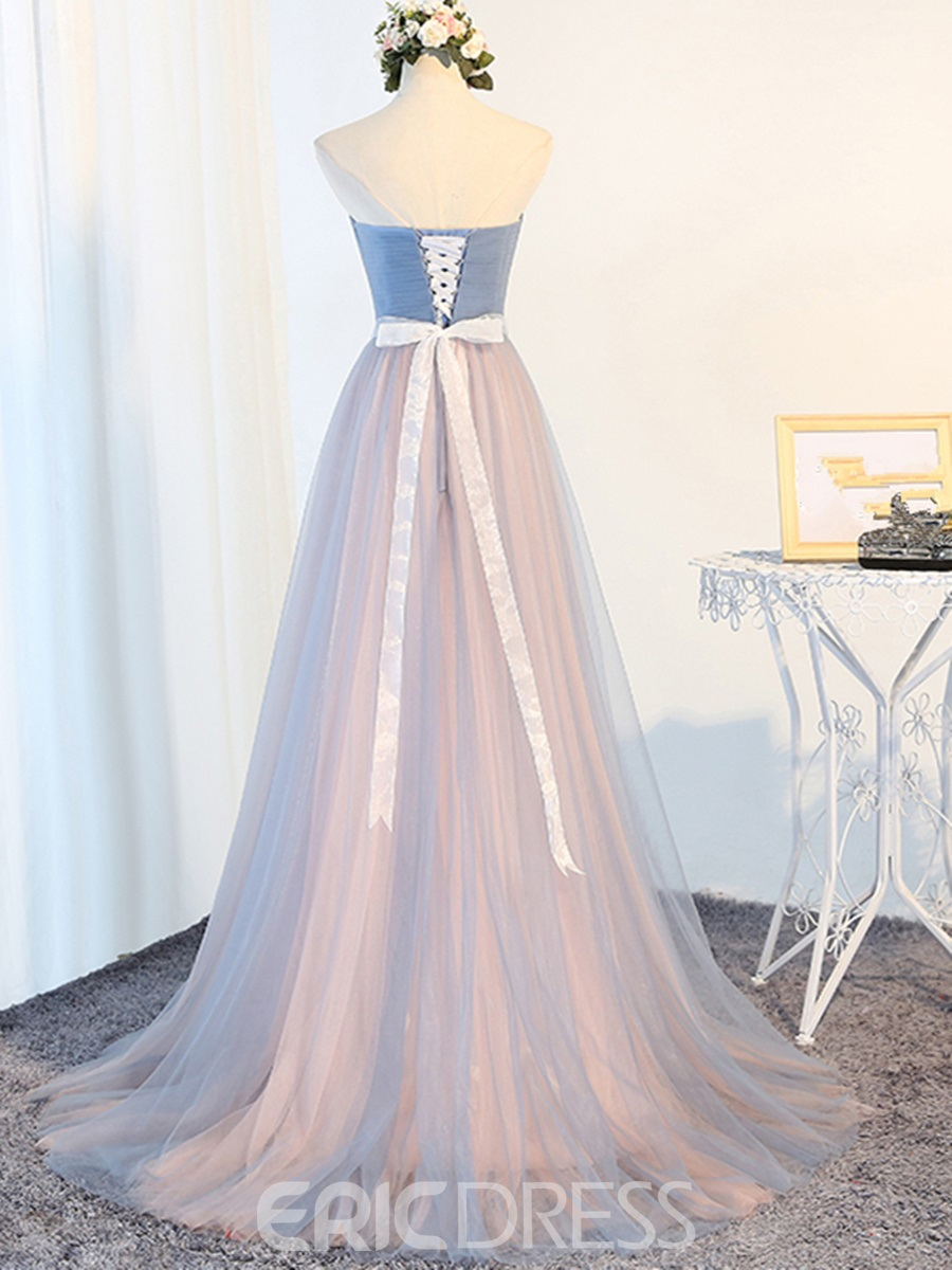 Ericdress Tulle Sleeveless Sweetheart Wedding Bridesmaid Dress