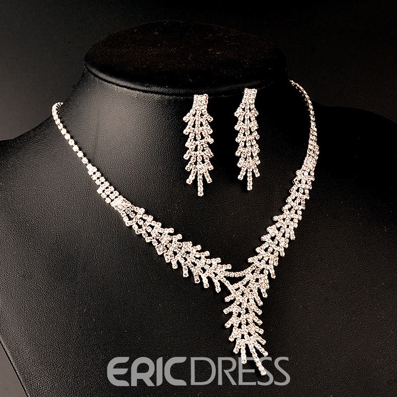 Ericdress Graceful Fully-Jewelled Two-Piece Jewelry Set