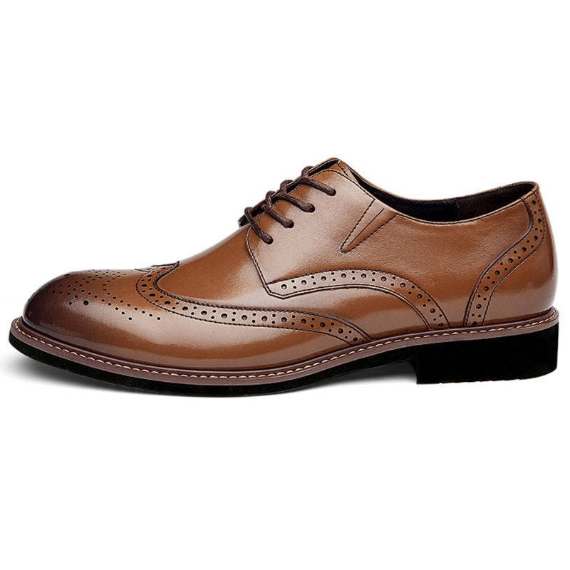 Ericdress Leather Carved British Men's Shoes