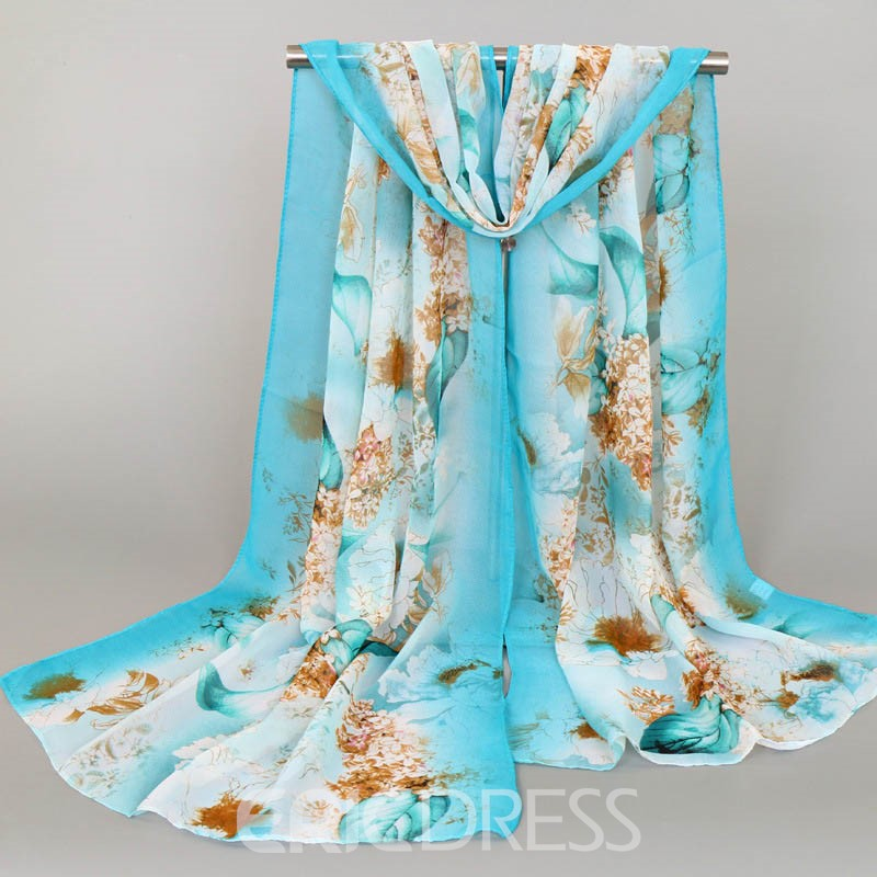 Ericdress High End Chiffon Printed Printing Scarf