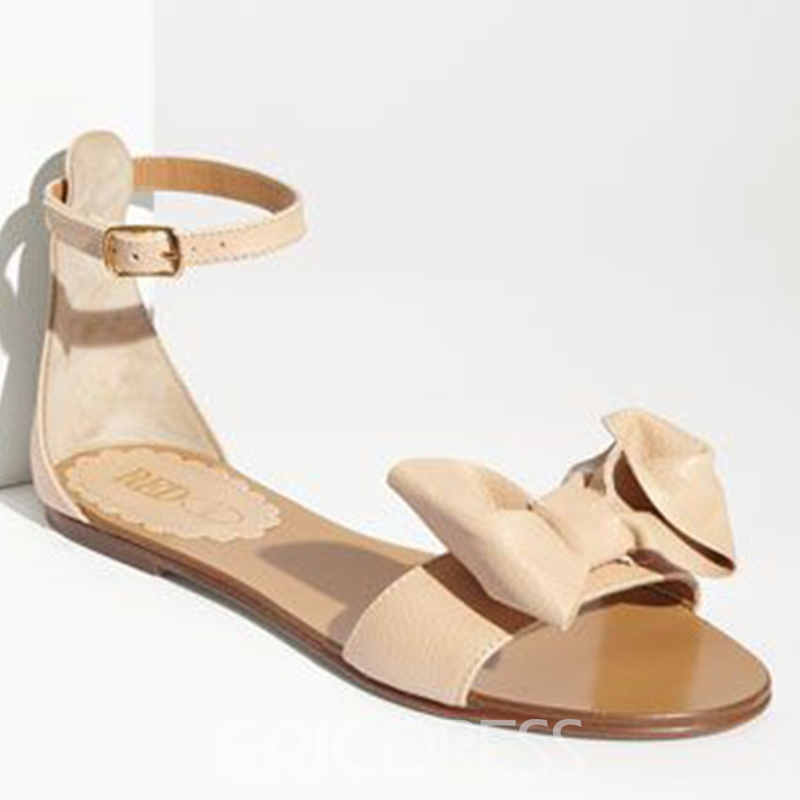 Bowtie Heel Covering Flat Sandals