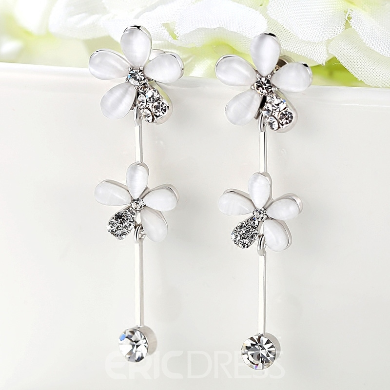 Ericdress Exquisite Long Tassel Flower Earring for Any Occasions