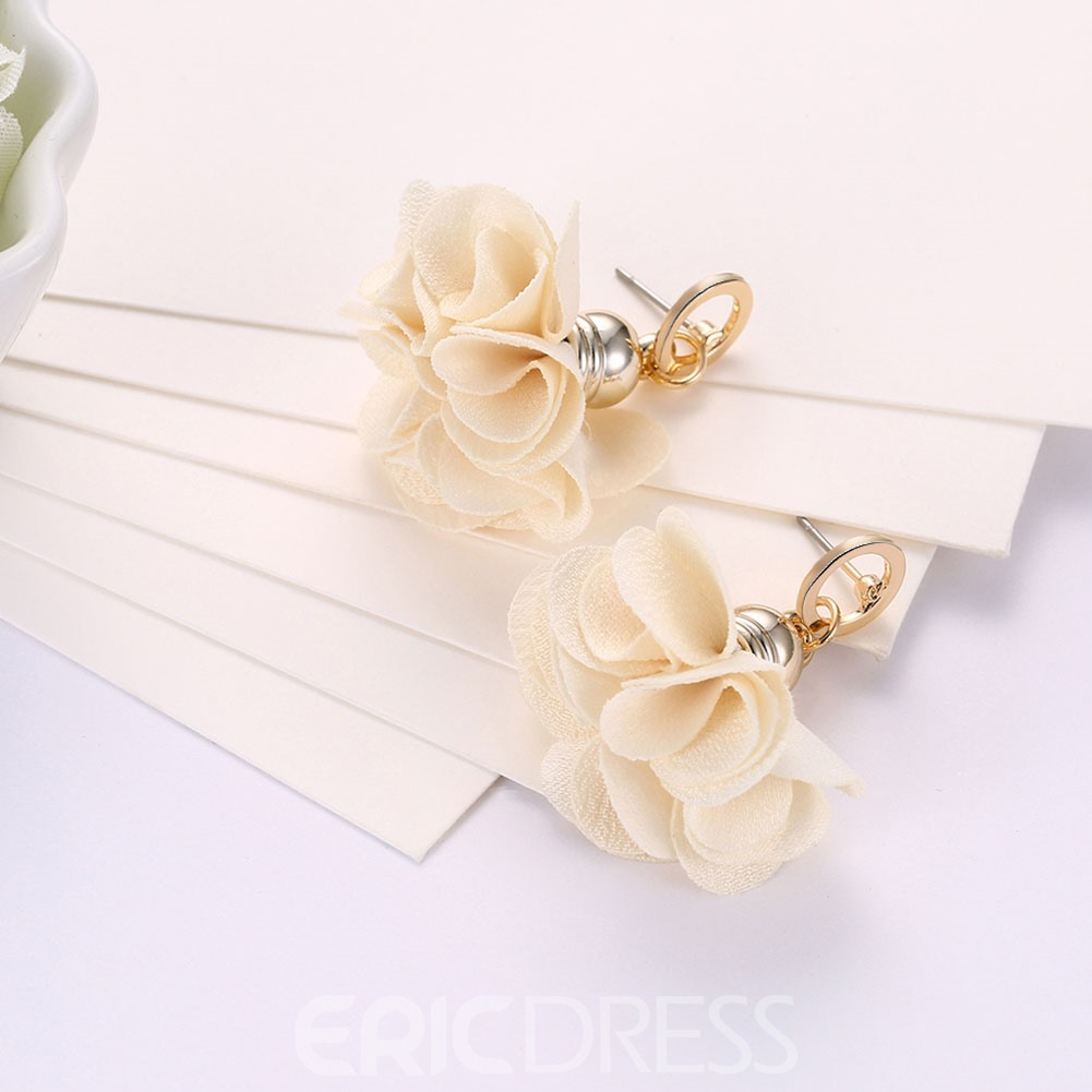 Ericdress Flower Alloy Women's Earring