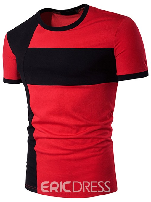 Ericdress Color Block Casual Men's T-Shirt