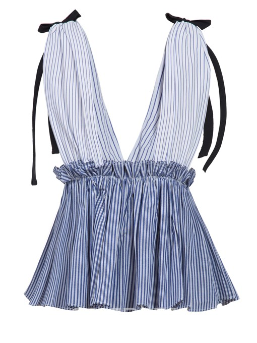 Ericdress Slim Stripe Backless Lace-Up Tank Top