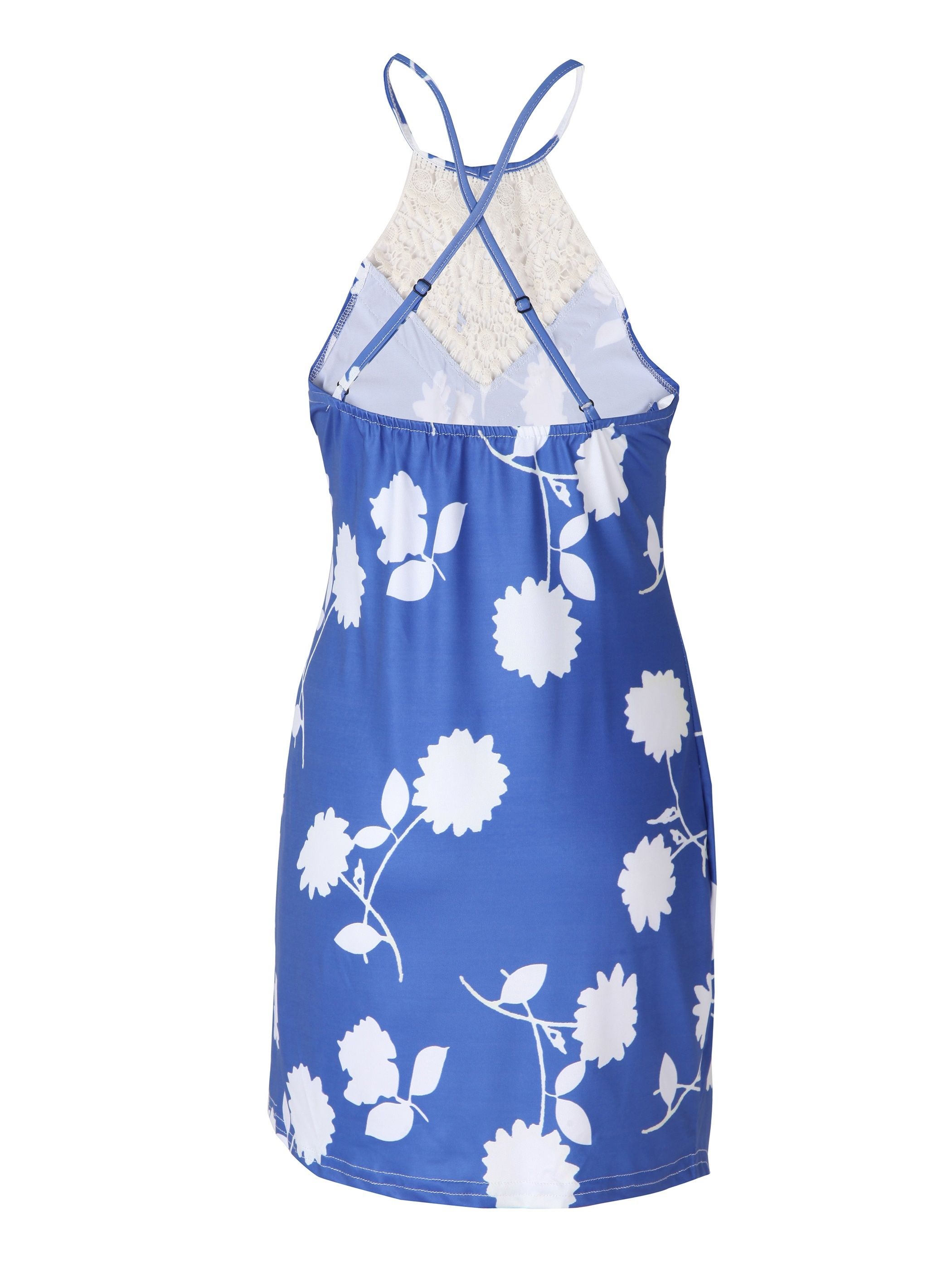 Ericdress Print Backless Patchwork Bodycon Dress