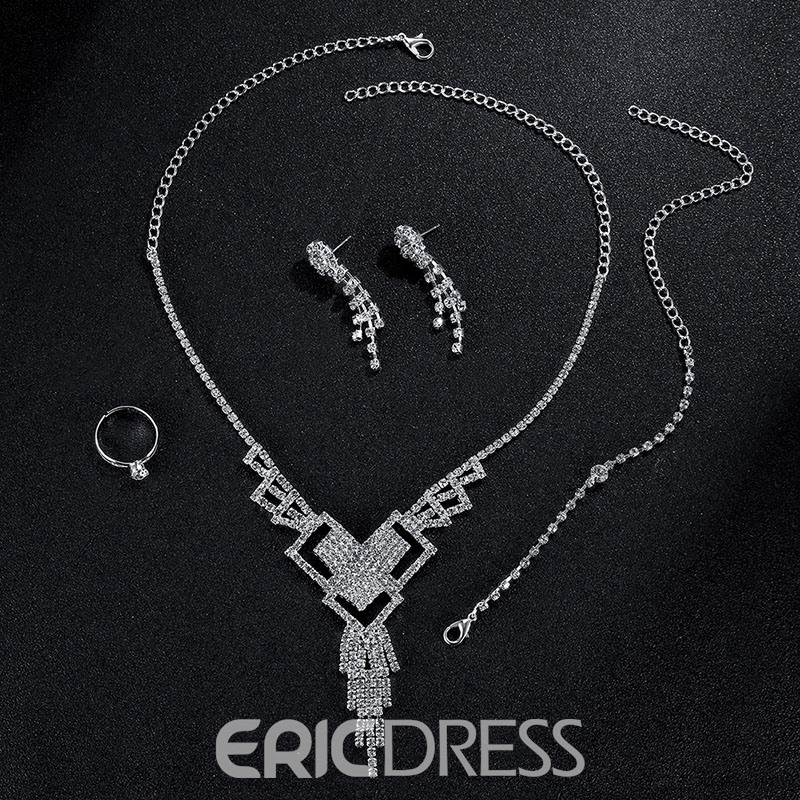Ericdress Exquisite Fully-Jewelled Jewelry Set for Party