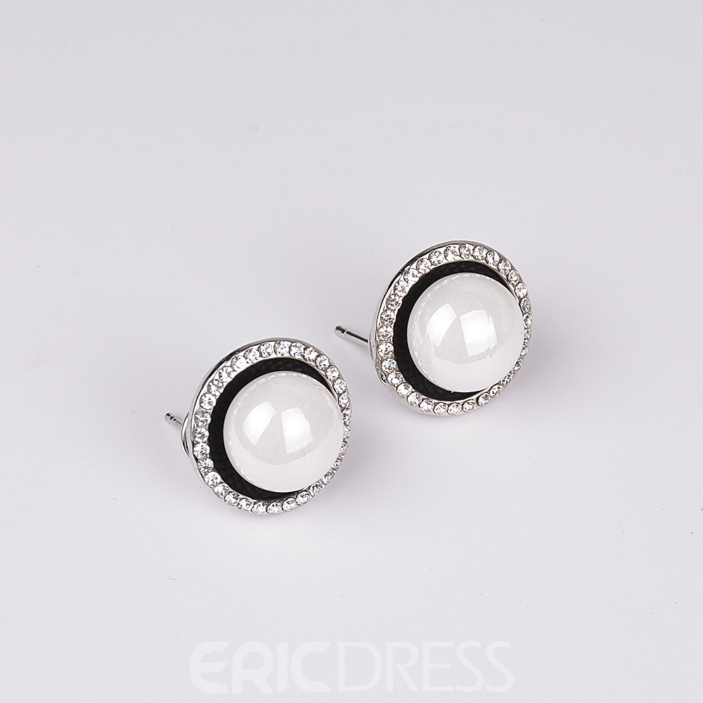 Ericdress Two-Piece Imitation Pearl Rhinestone Jewelry for Bride