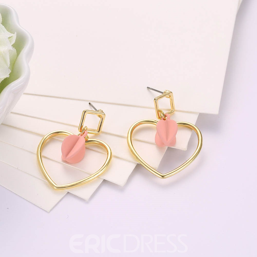 Ericdress Heart Alloy Fashionable Earring