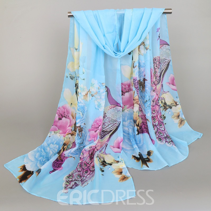Ericdress High Quality Flower Printed Soft Scarf