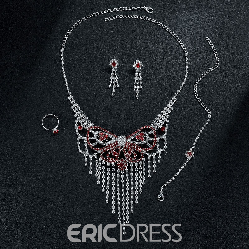 Ericdress Fully-Jewelled Butterfly Design Women's Jewelry Set