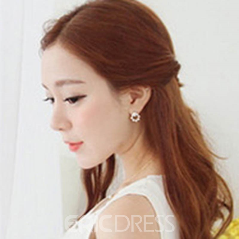 Ericdress Exquisite Fully Jewelled Imitation Pearl Women's Earring