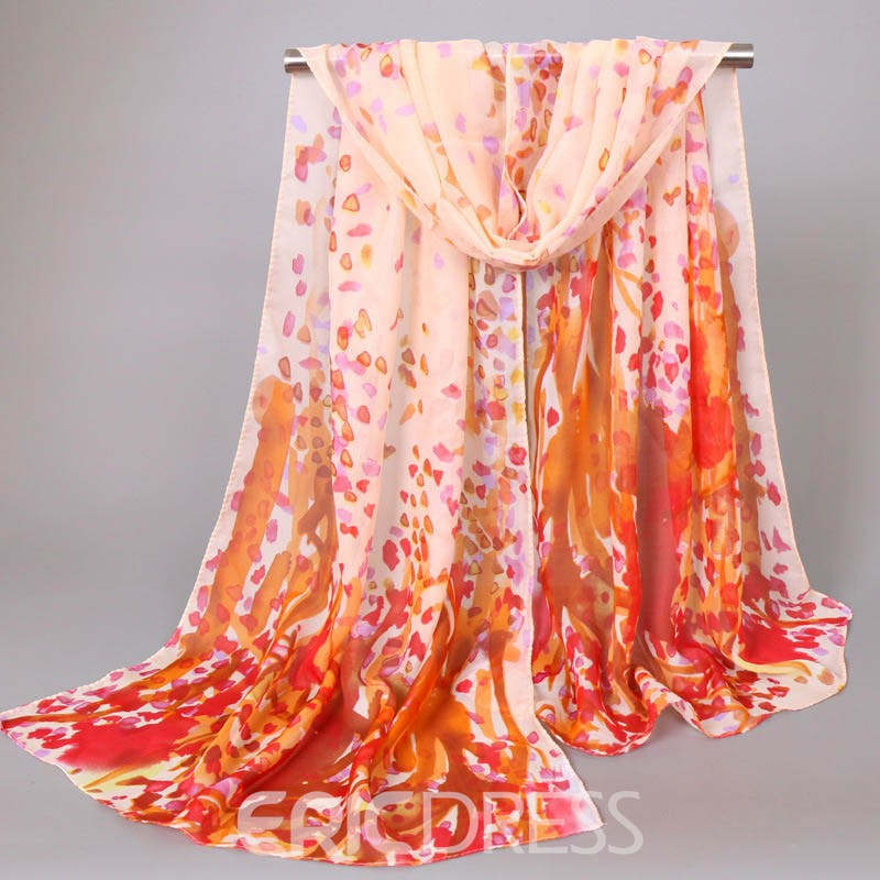 Ericdress Amazing Contrast Color Chiffon Scarf