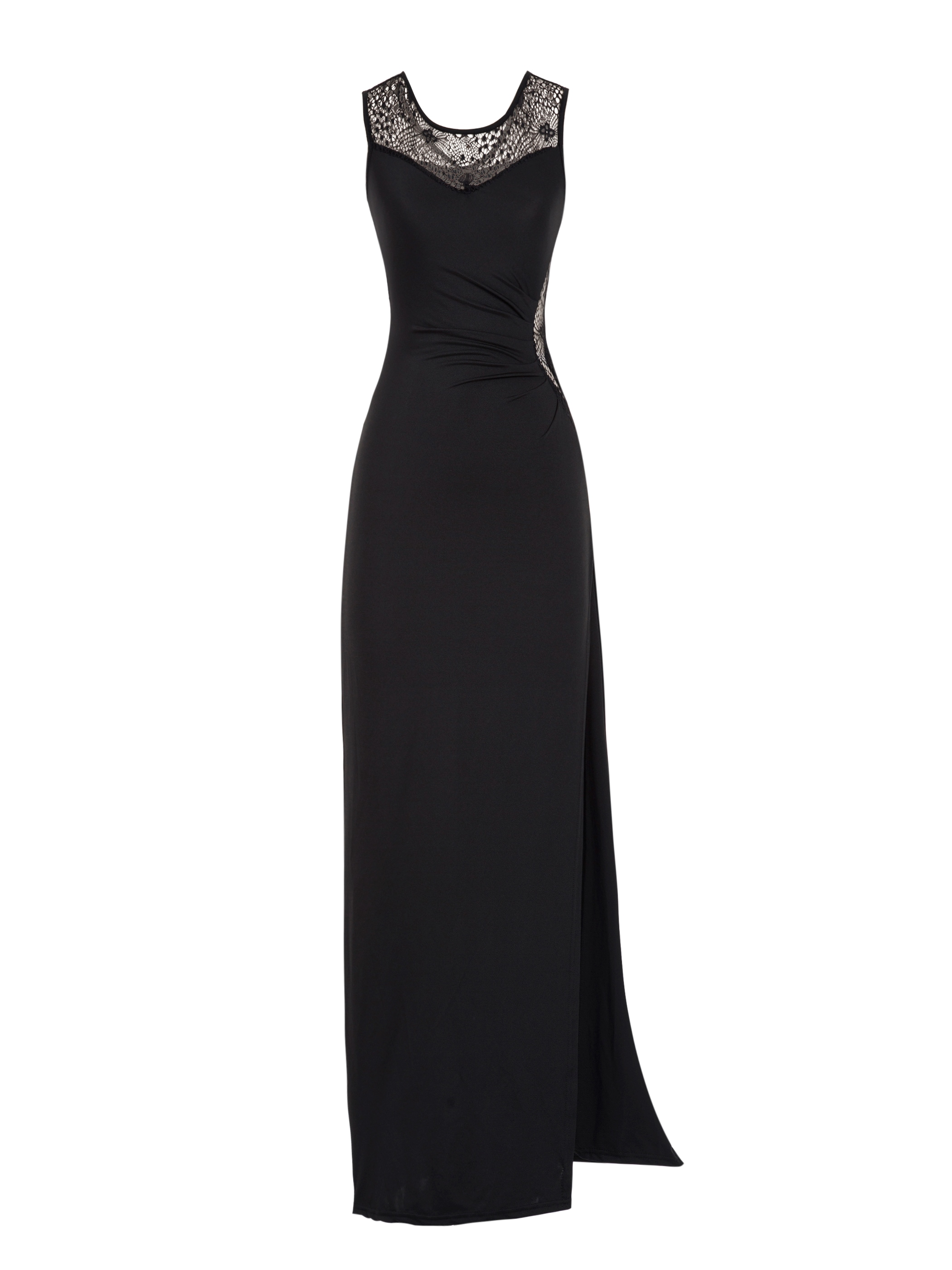 Ericdress Round Neck Hollow Backless Maxi Dress
