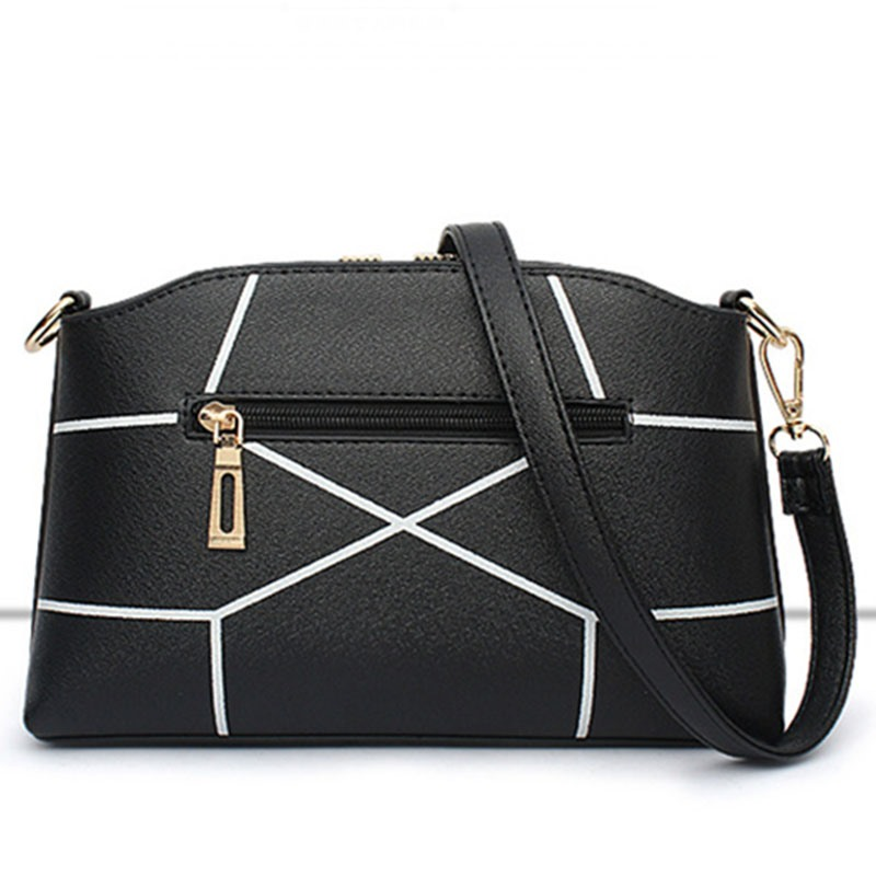 Ericdress Solid Color Geometric Patchwork Crossbody Bag