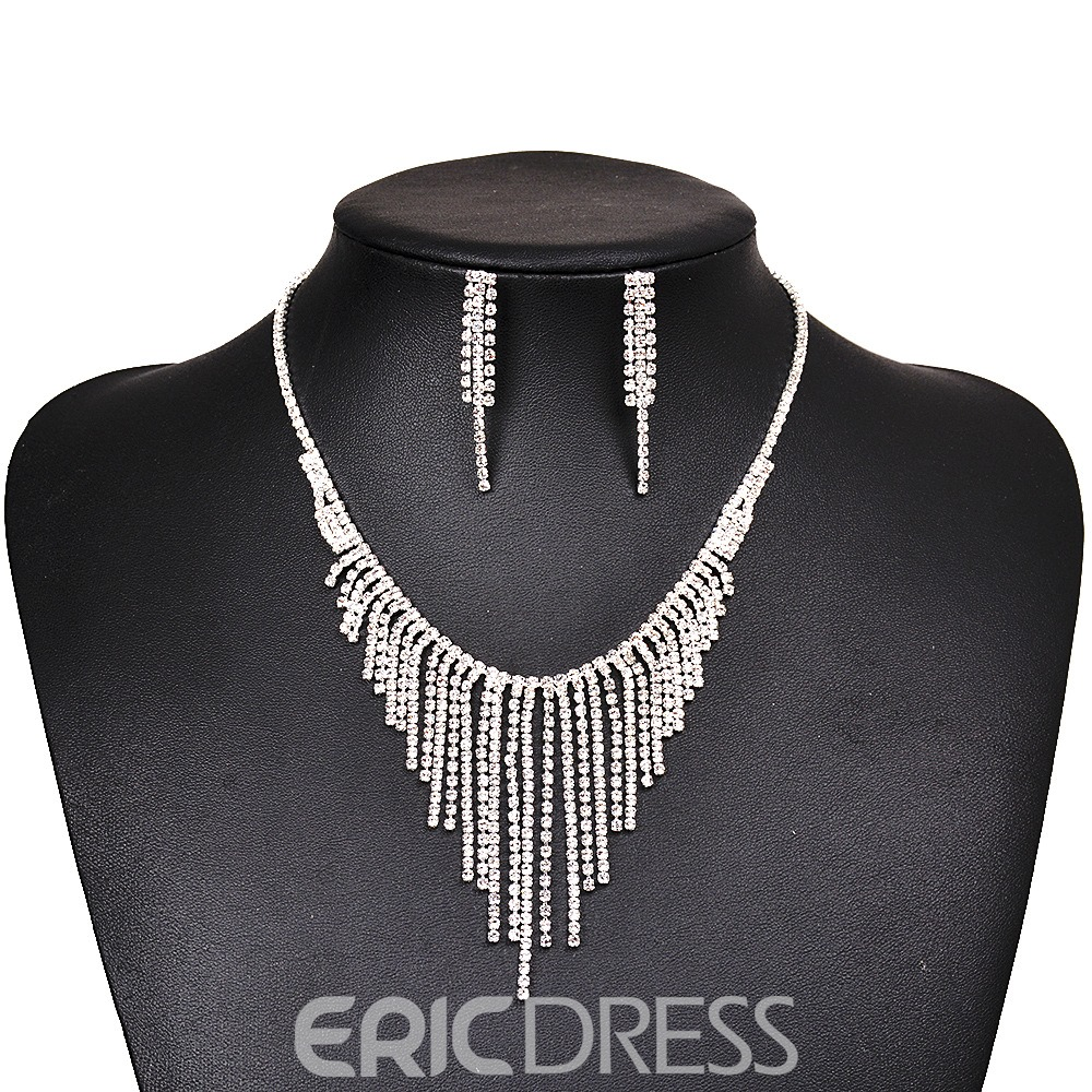 Ericdress Graceful Diamante Tassel Jewelry Set