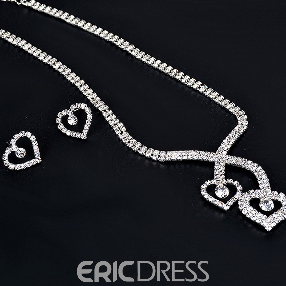Ericdress Heart Series Diamante Women's Jewelry Set