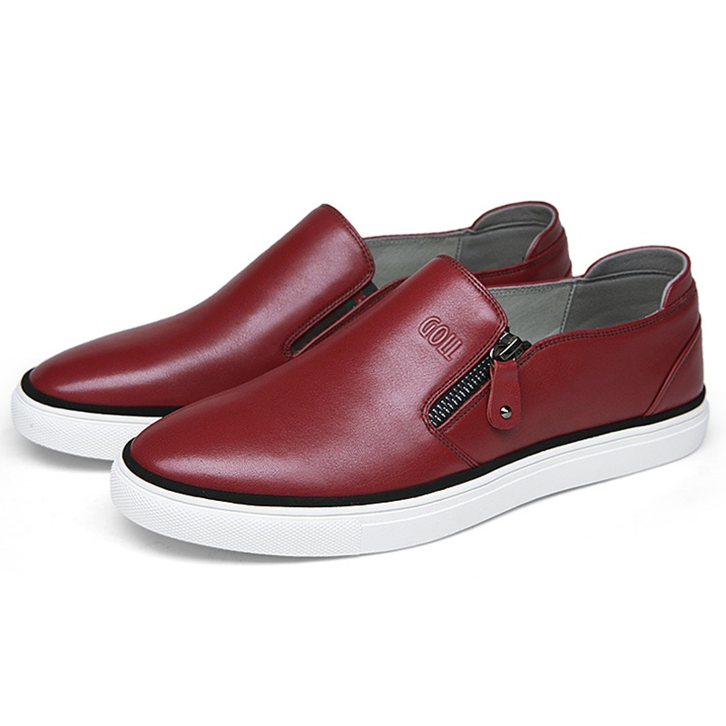 Ericdress Leather Zipper Round Toe Loafers