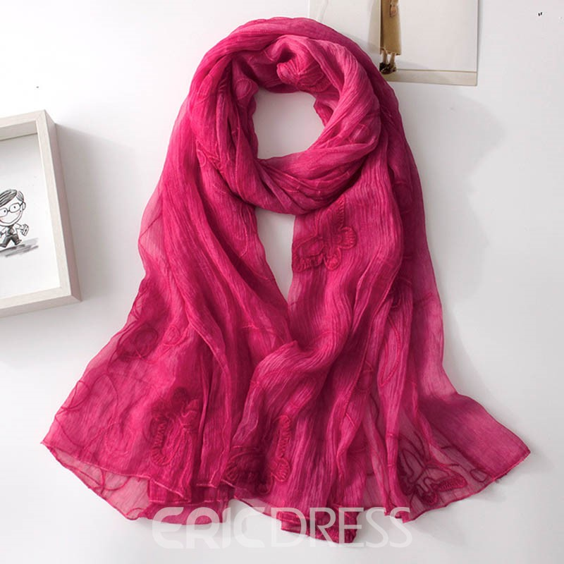 Ericdress Multifunctional Embroidery Ultra Violet Scarf for Women