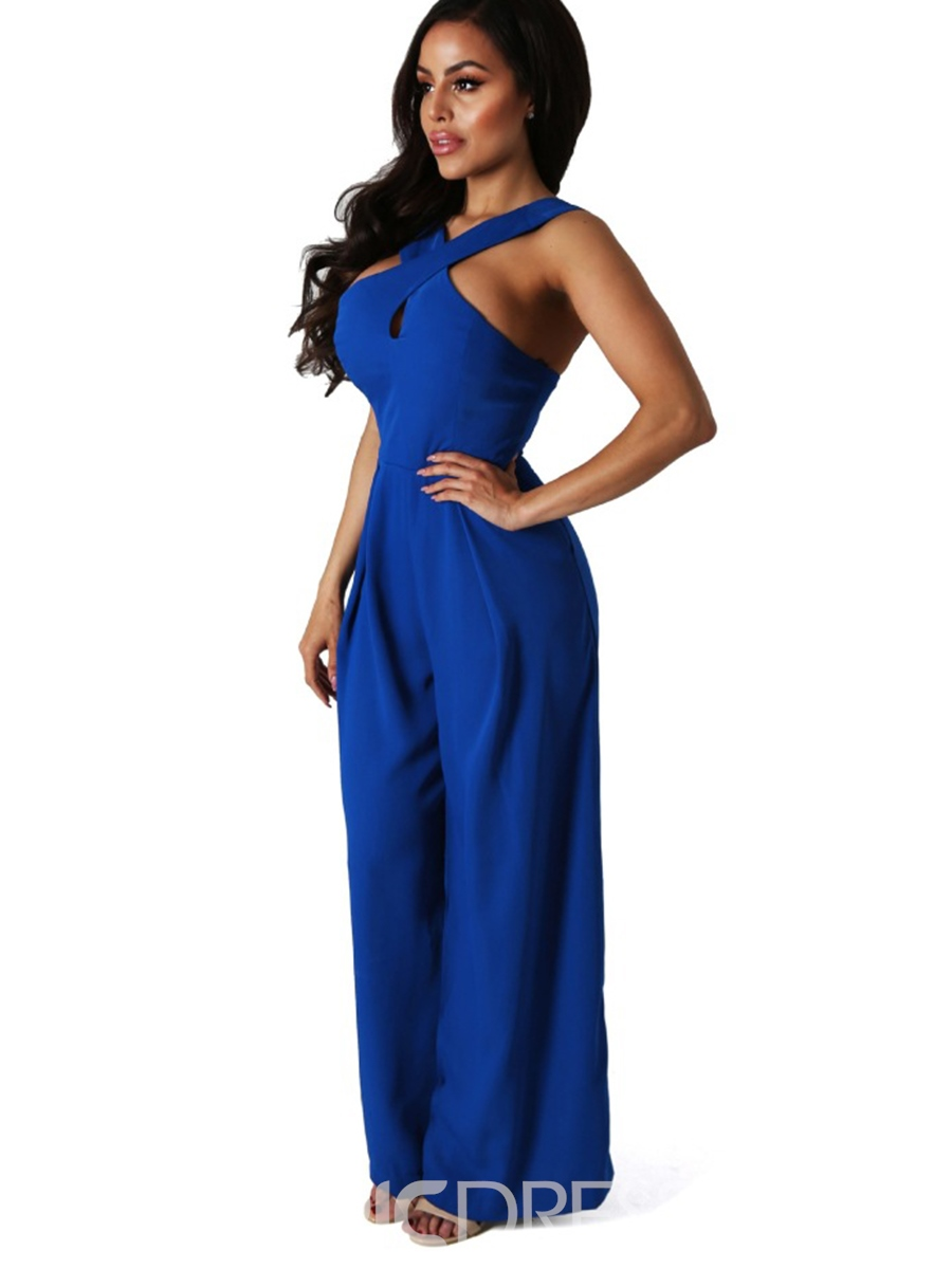 Ericdress Sleeveless Wide Leg Women's Jumpsuits