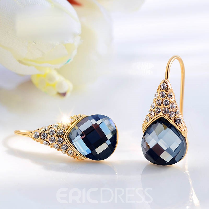 Ericdress Amazing Blue Sapphire Inlay Women's Earring