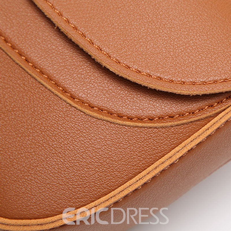 Ericdress Oval Thread Decorated Shoulder Bag