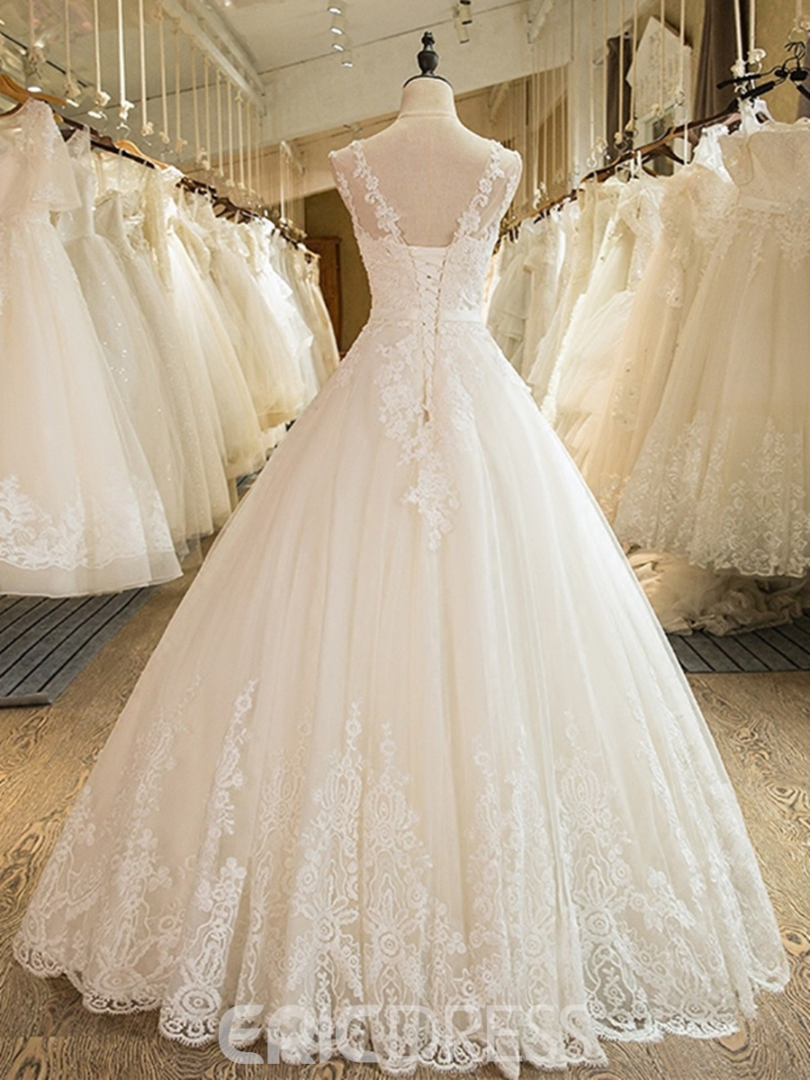 Ericdress Mesh Tulle Sleeveless Ball Gown Wedding Dress