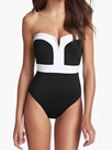 Ericdress Simple Color Block Strapless Monokini (Plus Size Available)