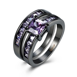 Ericdress Square Cut Created Amethyst Bridal Sets