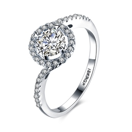 Ericdress Round Cut Created White Sapphire Wedding Ring