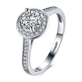 Ericdress Round Cut Hearts and Arrows Wedding Rings